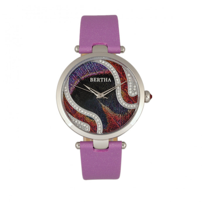 Bertha Trisha Leather-Band Watch w/Swarovski Crystals - BTHBR8002