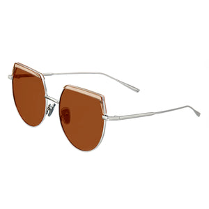 Bertha Callie Polarized Sunglasses - Silver/Brown - BRSBR032BN