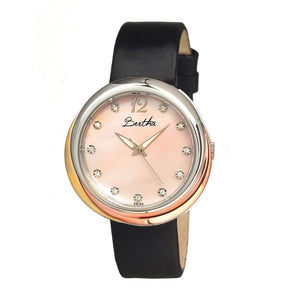 Bertha Jean MOP Leather-Band Ladies Watch - Light Pink - BTHBR3503