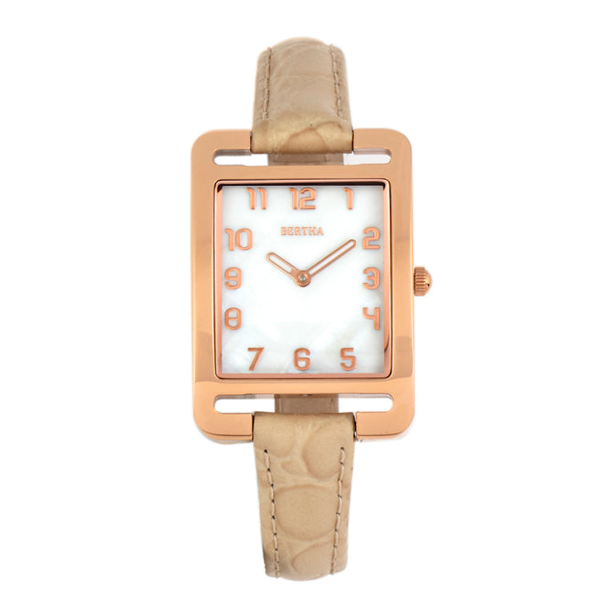 Bertha Marisol Swiss MOP Leather-Band Watch - BTHBR6904