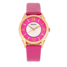 Load image into Gallery viewer, Bertha Ida Mother-of-Pearl Leather-Band Watch - Pink  - BTHBS1206