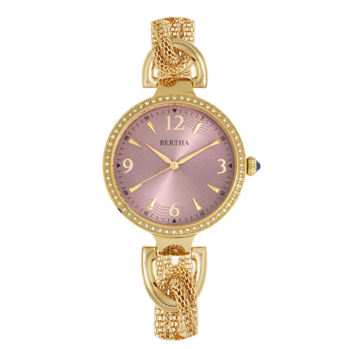 Bertha Sarah Chain-Link Watch w/Hanging Charm - BTHBR8904