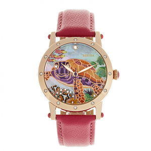 Bertha Chelsea MOP Leather-Band Ladies Watch