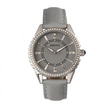 Load image into Gallery viewer, Bertha Clara Leather-Band Watch - Grey - BTHBR8102