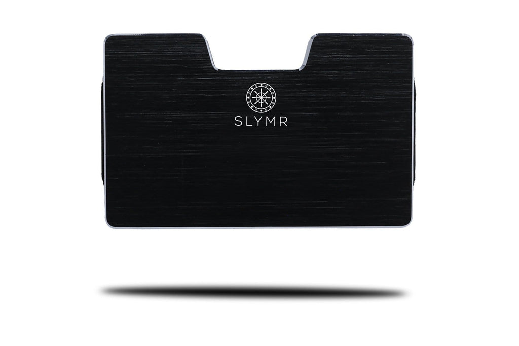 JEAN BRUSHED BLACK metal wallet