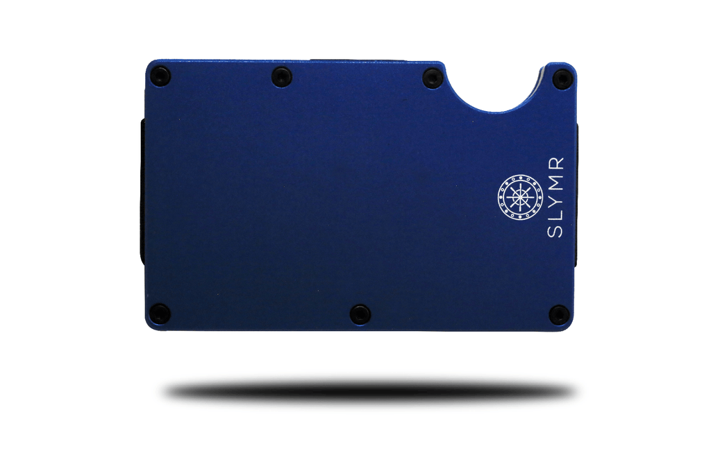 SLOAN BLUE metal wallet
