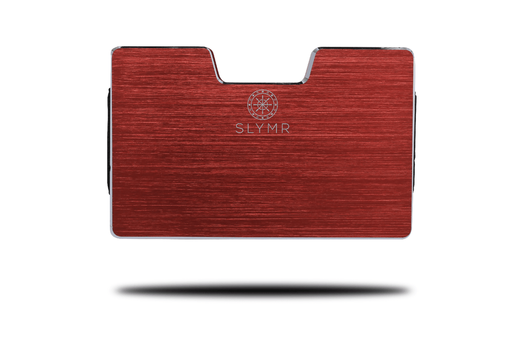 JEAN BRUSHED RED metal wallet