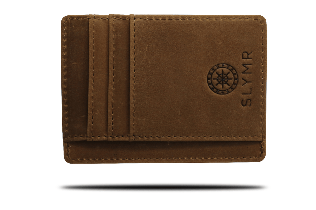 SADDLE BROWN Leather wallet