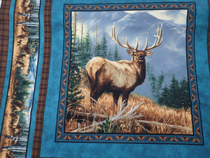 CALLING THE HERD PILLOW PANEL