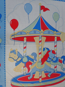 MERRY GO ROUND BLUE PANEL