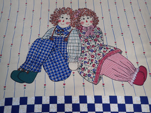 RAG DOLL QUILT PANEL/WALL HANGING