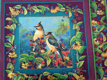 Load image into Gallery viewer, BIRDS AND BERRIES PILLOW PANEL