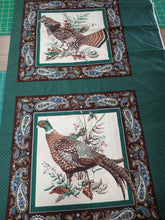 Load image into Gallery viewer, PAISLEY PHEASANT PILLOW PANEL