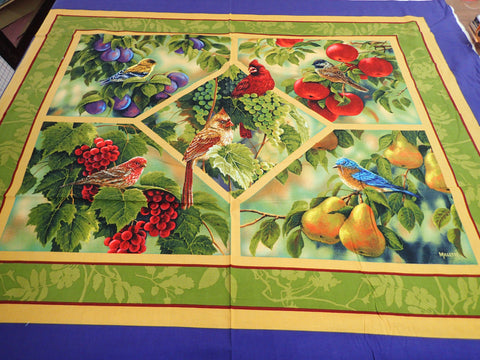 BIRD AND FRUIT LARGE WALL HANGING PANEL