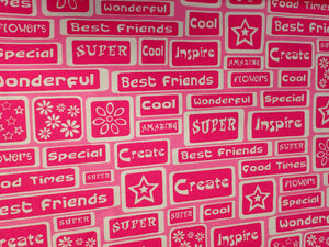 BEST FRIENDS ALLOVER GIRL POWER FABRIC