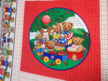 Load image into Gallery viewer, SCHOOL BEARS PILLOW PANELS