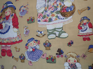 LITTLE GIRL DOLL'S ALLOVER PRINT