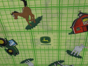 JOHN DEERE ANIMAL TOSS PLAID