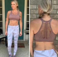 Macrame Yoga Cut-Out Bra