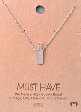 Load image into Gallery viewer, Save Water Drink Wine Necklace