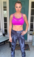 Charismatic Purple Athleisure Bra