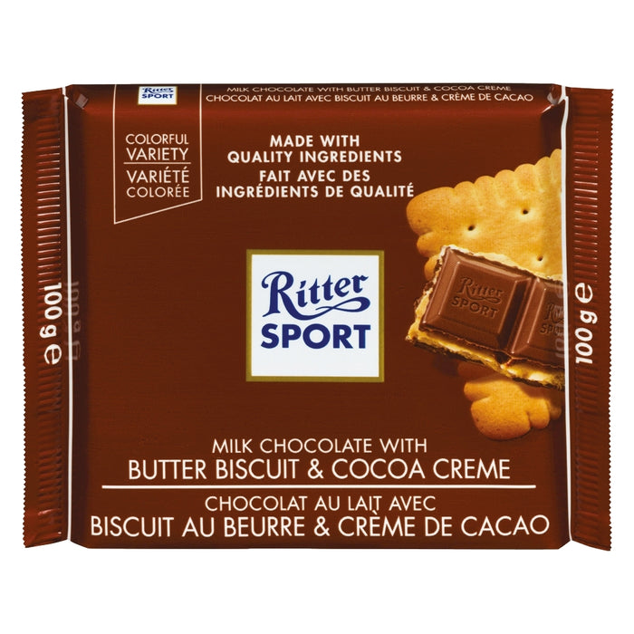 Ritter Sport Milk Chocolate With Butter Biscuit & Cocoa Creme