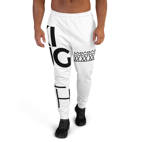 King Foolish Men's White Joggers