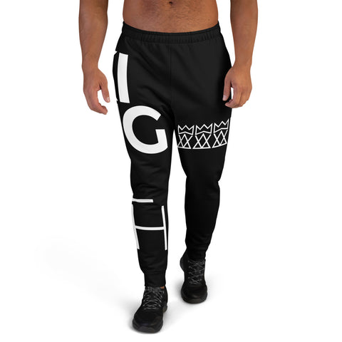 King Foolish Men's Black Joggers