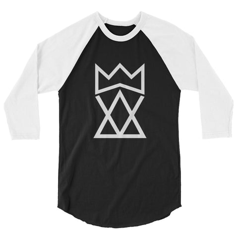 King Foolish Unisex 3/4 Sleeve White Logo Shirt