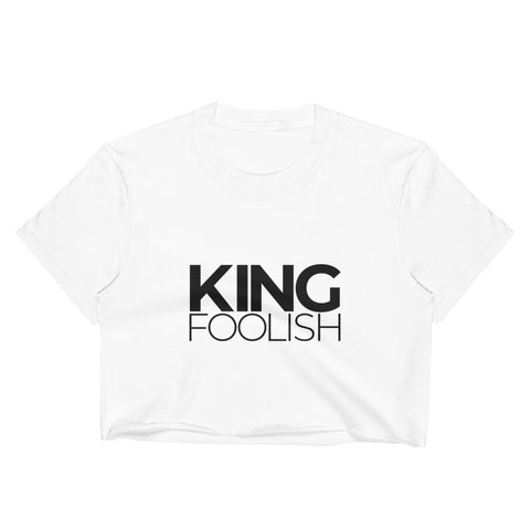 King Foolish Women's White Crop Top