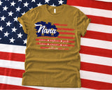 Namashops Personalized Nana USA Flag, 4th July Shirt