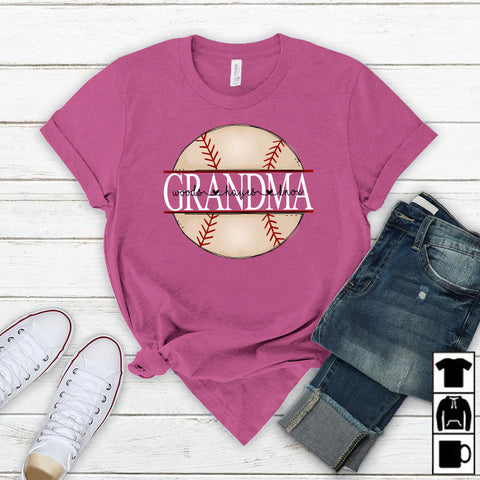 Namashops Personalized Grandma Baseball, Custom Names Shirt - namashops
