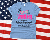 Namashops Personalized This Cool Grandma And Grandkids Names Shirt