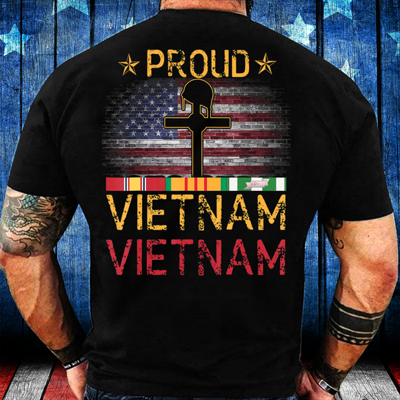 Proud Vietnam Veteran, Gift For Vietnam Veteran T-Shirt