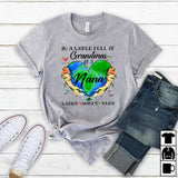 Namashops Personalized In A World Full Of Grandmas Be A Nana, Custom Names Shirt - namashops