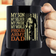 My Son My Soldier My Pride My World Proud Army Dad Military Mug