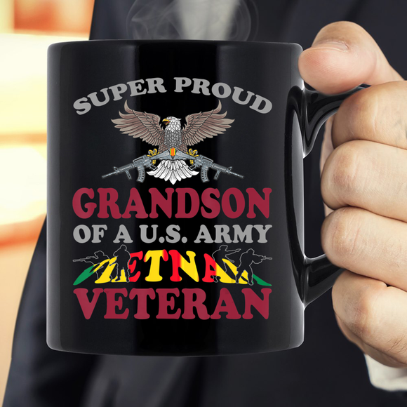 Super Proud Grandson Of A U.S. Army Vietnam Veteran Mug