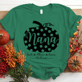 Namashops Personalized Nana Pumpkin New Grey, Custom Names Shirt