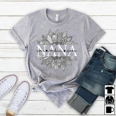Namashops Personalized Nana Black Art, Custom Names Shirt - namashops