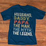 Namashops Personalized Husband Daddy Papa - The Legend, Custom Names Shirt