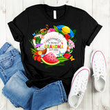 Namashops Personalized Happiness Is Being A Grandma Summer Shirt