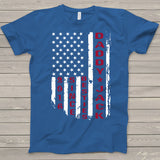 Namashops Personalized Daddy And Kid American Flag Shirt