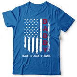 Namashops Personalized Daddy-Kids-American Flag Shirt
