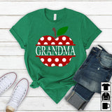 Namashops Personalized Grandma Teacher, Custom Names Shirt - namashops