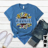 Namashops Personalized Grandma Flower Art New, Custom Names Shirt - namashops