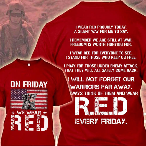 Veteran On Friday Wear Red Remember
