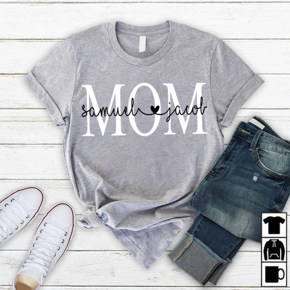 NAMASHOPS PERSONALIZED MOM SHIRT, CUSTOM MOM SHIRT - namashops