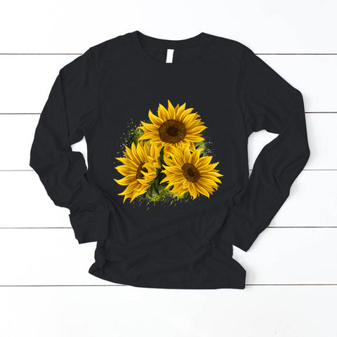 Yellow Sunflower Floral Watercolor Positivity