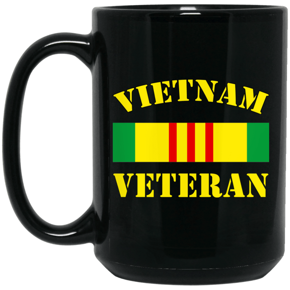 Vietnam Veteran 15 oz. Black Mug