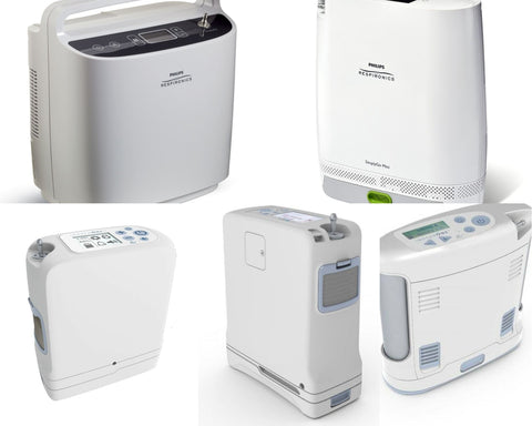 Collage of the 6 best portable oxygen concentrators for 2021